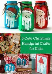 5 leuke kerst handafdruk ambachten voor kinderen