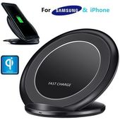 Universal Fast Qi Wireless Charger Stand Dock For Cell Phone Samsung S8 S9 Note 8