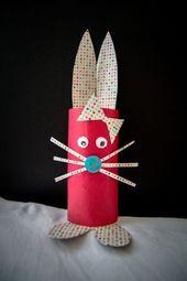 DIY : Un lapin avec un rouleau de papier toilette