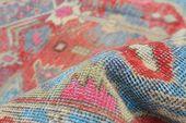 Turkish Handmade Vintage Turkish Overdyed Rug, 4'7
