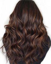 Dunkelbraunes Haar mit Caramel Babylights #chocolatebrownhair