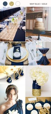 Top 10 Navy Blue Wedding Color Combo Ideas for 2018
