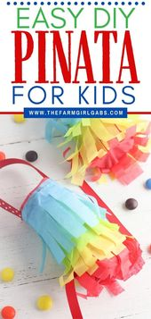 DIY Slime The kids can celebrate Cinco de Mayo too. These DIY Toilet Paper Roll Pinatas ar...