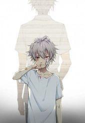55 Ideas Hair White Boy Anime Red Eyes Anime Ideas White Delfina Sboyshairart Red Eyes White Hair Anime
