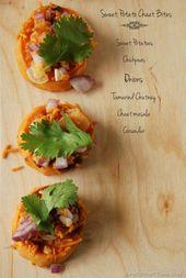Sweet Potato Chaat bites – an Indian street food inspired snack mycookingquest…