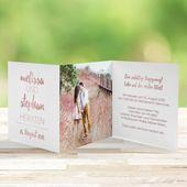 Inbjudningskortbröllop Forever Love i rosa guld + vit