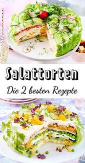 Salattorten – die zwei besten Rezepte für Party und Buffet – Salat-Rezepte und leckere Dressings