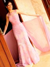 Prom Dresses Simple, Elegant prom dresses,Pink Sheath/Column Scoop Floor-length Tulle Prom Dresses Evening Dresses