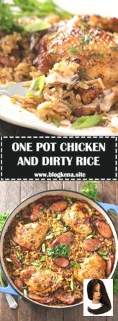 ONE POT CHICKEN AND DIRTY RICE – #recipes