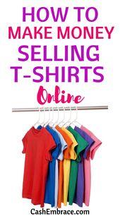 Wie man Geld verdient, das online T-Shirts verkauft – Make Money Online