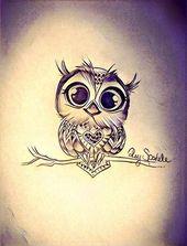 Owl …cute tattoo #armtattoos #diytattooimages   – diy tattoo images
