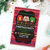 Items similar to Ugly Sweater invitation, printable party invitation, Christmas invitation, Holiday Invitations, Ugliest sweater Christmas party, Printable on Etsy