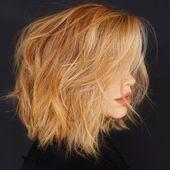 2019 geschichtete Farbe Mittellange Frisuren, #Farbe #Haar