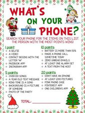 What's On Your Phone Christmas Theme Game