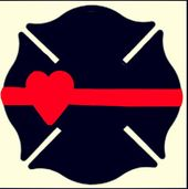 Maltese Cross Heart Thin Red Line Firefighter Firefighters