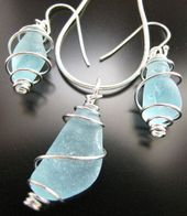 Sea + Glass + Jewelry + Beach + Combed + Aqua + Blue + by + WestCoastSeaGlass …