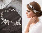 Bridal Hair Accessories Hair Rope Real Pearls Freshwater Pearl Crystals Rhinestone Stones Wedding Bridal Hair Jewelry Fascinator Tendrill Tiara