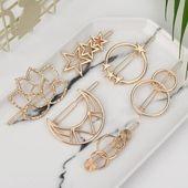 Mode Frau Haarschmuck Dreieck Haarspange Pin Metall Geometrisch – GoLive Shopp…