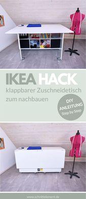DIY IKEA HACK, klappbarer Zuschneidetisch
