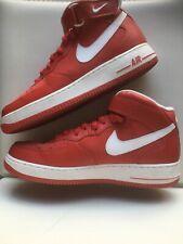 Nike Air Force 1 Mid 07 Red White 315123 600 Sz 10 5 Retro