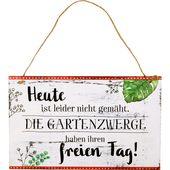 """Gartenschild """"Heute ist leider nicht gemäht…"""" I l.m.Garden"""