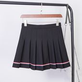 Kawaii japonais mini jupe femme printemps été solide preppy aline empire uniforme scolaire rayé jupes douces  – Products