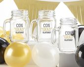 Congradulations Mason Jar Set of 4