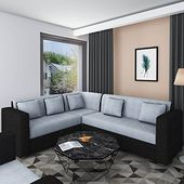 Insignia seater sofa set grey modern style  jute fabric material callusnowon daysdelivery exclusive  also rh pinterest
