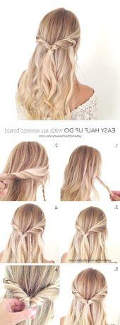 Best Half Half Down Hairstyles Pinterest #Wedding Hairstyles #Simple Hairstyles … – – Best Half Half Down Hairstyles Pinterest #Wedding Hairstyles …