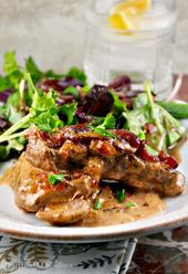 Simple Skillet Pork Chops with Caramelized Onions & Bacon : Simple Skillet Pork …