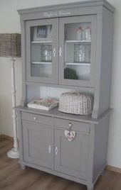 Light grey with white backdrop #Shabbychicdressers