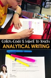 Center and highschool English: educate analytical writing by color-coding and lab…