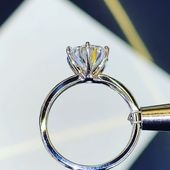 3.00ct Round Six Prong Solitaire Moissanite Engagement Ring – Jewellery