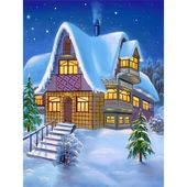 Photo of 5D Diamond Painting Die Winternacht Cottage Paint mit Diamanten Art Crystal Craft Decor