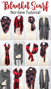 Be taught Easy methods to Create a No-Sew Blanket Scarf and Simply Model it a Number of Diff…