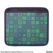 Green Abstract Square Pattern iPad Sleeve | Zazzle.com