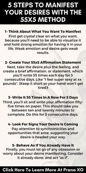 How To Use The 55×5 Manifesting Method To Manifest Your Desires