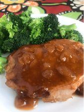 Slow Cooker Sweet Glazed Pork Chops