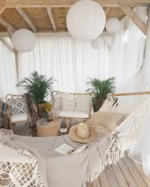 DIY Backyard goals Boho terrace patio backyard bohemian decor mrswildsoul – Landhaus ideen – Pool & Garden