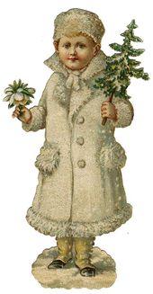 Photo of Vintage viktorianische Weihnachten gestanzte ClipArt