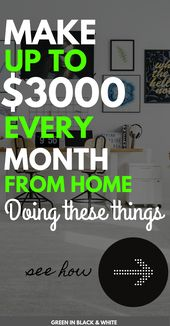 Make up to $3000 every month from home doing these…