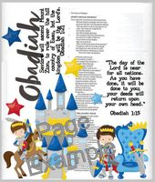 Obadiah Bible Journaling Printable. Great for the Illustrating Bible by Dayspring or any bible or faith journal.