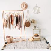 Copper Pipe A Frame Kleiderstange / Kleiderständer / Kleiderablage – Melo Dee-Dee – Dekoration – vibes