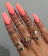 ▷ 1001 + Ideen für sargförmige Nägel, die diesen Sommer rocken   – schnuggie