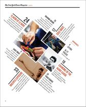 A redesigned New York Times Magazine content …