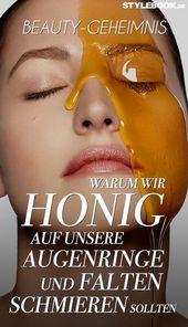 Honig hilft gegen Augenringe und Falten