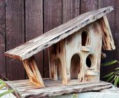 Vogel-Futterhaus, massiv, natur, ländlich, rustikal