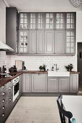 40 romantische und einladende graue Küchen für Ihr Haus