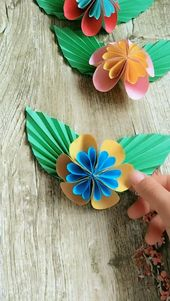 Handgemachte Origami Schmetterling Prozess Video Tutorial   – Diy & Crafts