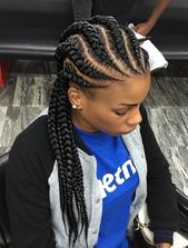 Wavy Straight-Back Braid  - African American braided hairstyles for girls using weave -  #braided hairstyles short #braided hairstyles - #african #ame...